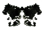 Rorschach inkblot test illustration — Stock Photo