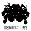 Rorschach inkblot test illustration — Stock Vector #49186307