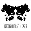 Rorschach inkblot test illustration — Stock Vector #49186605