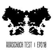 Rorschach inkblot test illustration — Stock Vector