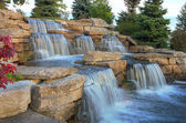 Beautiful waterfall in the park, Toronto, Canada. — Stock Photo