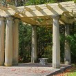 Stock Photo: Old shaded arbor