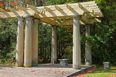 Old shaded arbor — Stock Photo