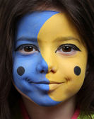Moon and Sun face painting — Stock Photo
