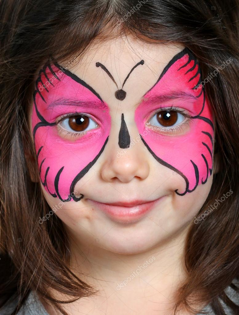 Face Painting Girl Butterfly