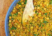 Quinoa cuit avec pois chiches — Photo