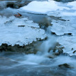 Winter mountain river  — Stock Photo