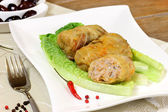 Stuffed cabbage with meat and rice. — Stock Photo