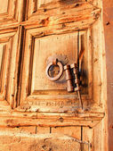 Gate to temple of the Holy Sepulcher — Stock Photo