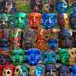 Mayan Wooden Masks for Sale — Stock Photo #26780009