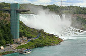 Niagara Falls and Maid of the Mist Tower — Stock Photo
