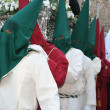 Nazarene procession during Holy Week on Spain. - Stock Photo