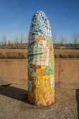 Ceramic monoliths, Talavera, Talavera ceramics — Stock Photo