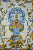 Ceramics of Talavera, tiles, Virgin Mary image — Stok fotoğraf