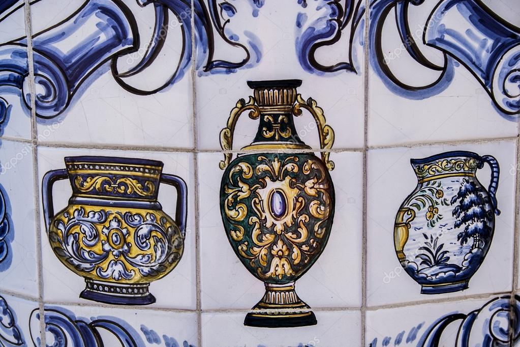 Azulejos Para Baños En Talavera Dela Reina:Azulejos, cerâmica talavera — Fotografias de Stock