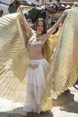 Arabian dancer, Medieval Market, Oropesa, Toledo, Spain, 21 04 2013 — Stock Photo