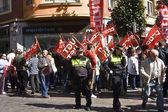 Manifiescion against recortesen, Spain — Stock Photo