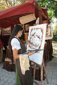 Crafts, Medieval Market of Oropesa, Toledo, — Stock Photo