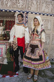 Lagarterana costumes, Lagartera Toledo, Spain — Stock Photo
