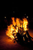 St. John Bonfire tradition in Spanish — Stock Photo