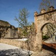 Stock Photo: City wall and gate Seville, Talaverde lReina, Toledo, Spain