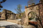 City wall and gate Seville, Talavera de la Reina, Toledo, Spain — Foto Stock