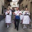 The dance Las Italianas of Garganta La Olla, Caceres, Extremadur — Stock Photo