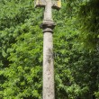 Stone Cross, Basilica of Pradro — Stock Photo