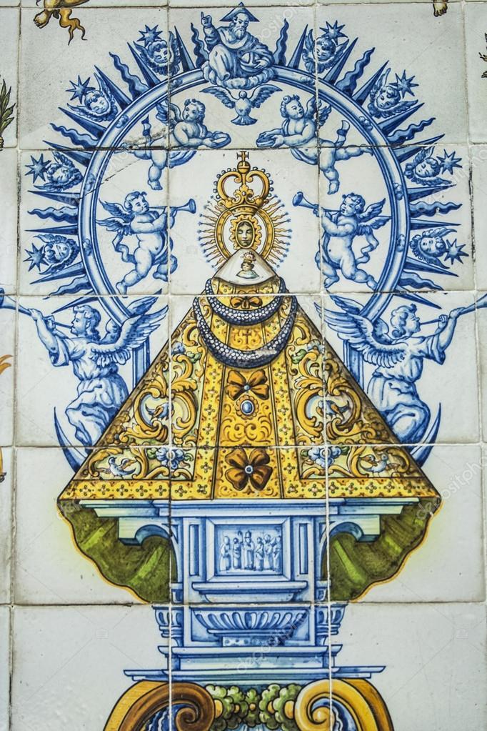 Azulejos de cer mica de talavera virgen del prado fotos - La reina del mueble talavera ...
