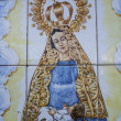Talavera pottery, tiles, Virgin Mary with baby Jesus — Stock Photo