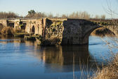 Tajo River, Roman Bridge passing through Talavera de la Reina, T — ストック写真