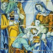 Постер, плакат: Adoration of the Magi tiles Basilica del Prado of Talavera de