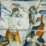 Постер, плакат: Religious tiles Basilica del Prado of Talavera de la Reina Tole