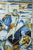 Tiles Resurrected Jesus Basilica del Prado of Talavera de la Re — Stock Photo