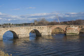Tagus River, Puente Romano, Talavera de la Reina, — Stock Photo