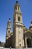 Facade of the Basilica del Pilar, Zaragoza, Spain — Stock Photo