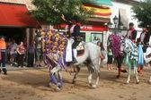 Horse racing in Carpio de Tajo, Patron Santiago — Stock Photo