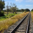 Railway and blue sky — Stock Photo
