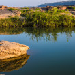 Pond in Sampanbok ,in Mekong River — Stock Photo
