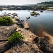 Pond in Sampanbok ,in Mekong River - Stock Photo