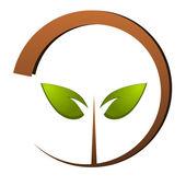 Tree green nature logo — Stock Vector