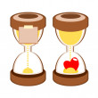 Stock Vector: Sandglass deadline time vector