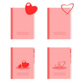 Diary of love — Stock Vector