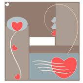 аннотация любовь и сердце — Cтоковый вектор