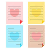 Colorful paper note — Stock Vector
