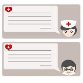 Memo von Arzt oder Krankenschwester-illustration — Stockvektor