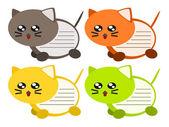 Cartoon cat memo illustration — Stock Vector