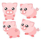 Cartoon pig illustration — Stock Vector