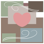 Abstract love and heart — Stock Vector