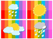 Weather icon in colorful background illustration — Stock Vector